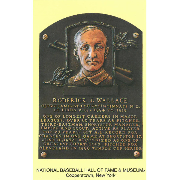 Bobby Wallace Baseball Hall of Fame Plaque Postcard