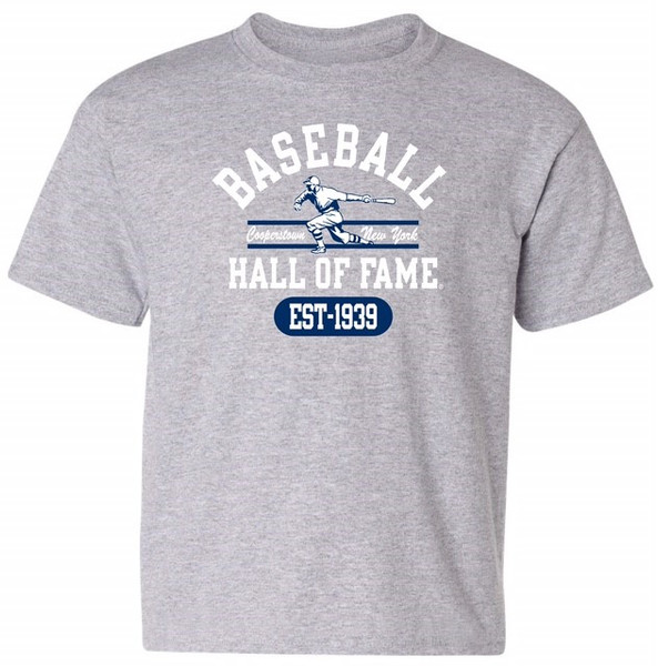 Youth Boys Baseball Hall of Fame Gray State Champ T-Shirt