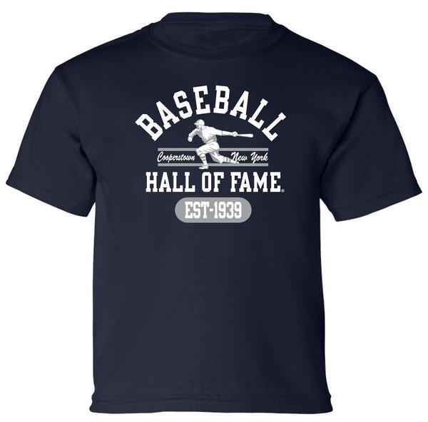 Youth Boys Baseball Hall of Fame Navy State Champ T-Shirt