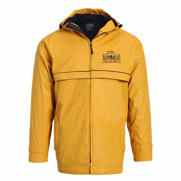 Men's Baseball Hall of Fame Yellow Rain Delay Jacket