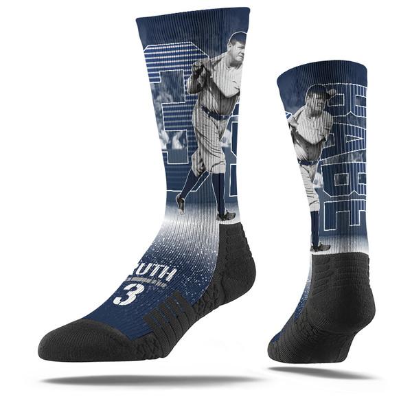 Men's Strideline Babe Ruth Stripe Crew Socks