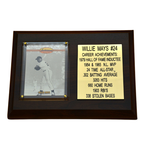 """Willie Mays San Francisco Giants 8"""" x 6"""" Baseball Card Deluxe Plaque"""