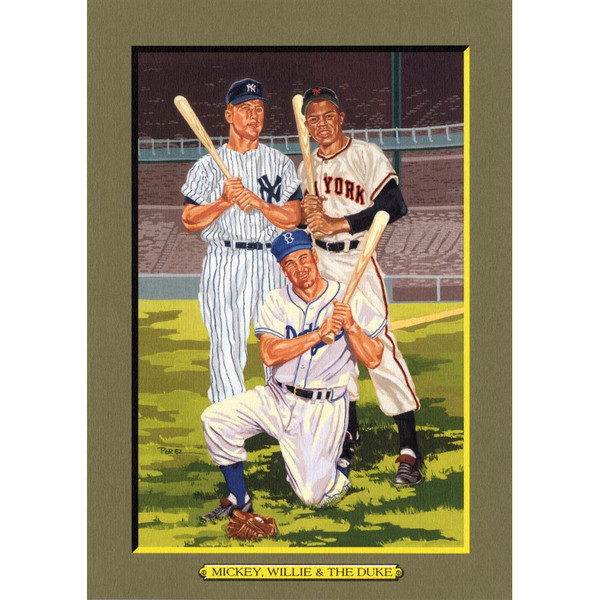 Willie, Mickey, Duke Perez-Steele Hall of Fame Great Moments Limited Edition Jumbo Postcard # 87