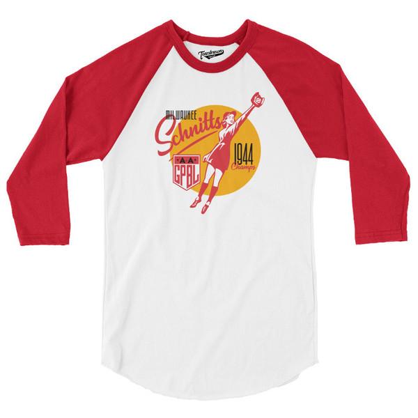 Unisex Teambrown Milwaukee Schnitts AAGPBL Longsleeve Baseball Shirt
