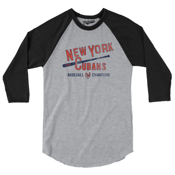 Unisex Teambrown New York Cubans Champions Collection Longsleeve Baseball Shirt