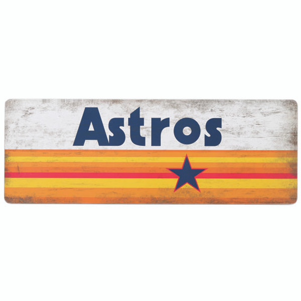 Open Road Houston Astros 10 x 28 Wood Cooperstown Collection Wall Art