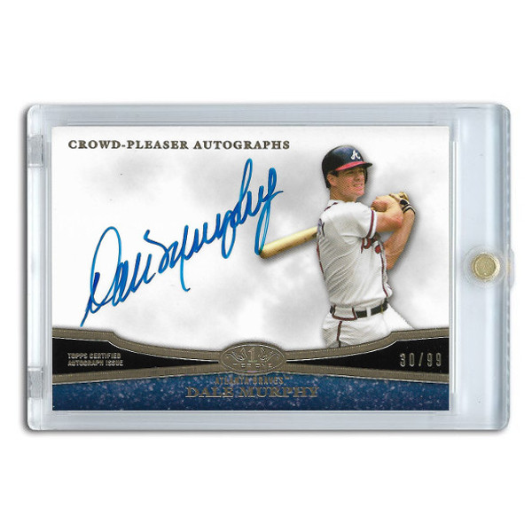 Dale Murphy Autographed Card 2013 Topps Tier One Crowd Pleaser Ltd Ed of 99
