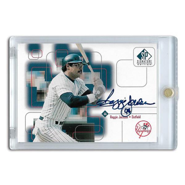 Reggie Jackson Autographed Card 1999 SP Signature Series