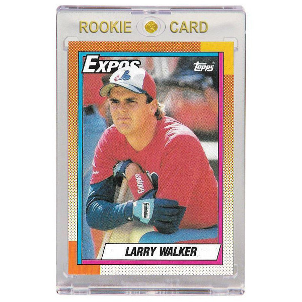 Larry Walker Montreal Expos 1990 Topps # 757 Rookie Card