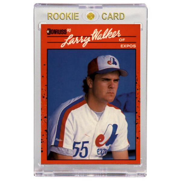 Larry Walker Montreal Expos 1990 Donruss # 578 Rookie Card