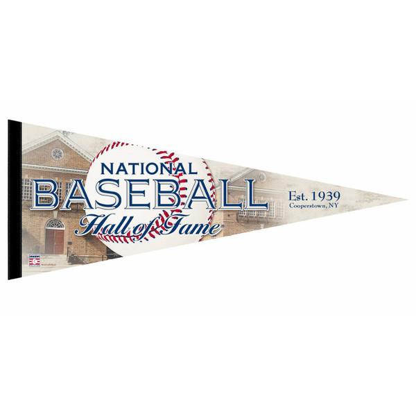 Baseball Hall of Fame 12 x 30 Vintage Pennant