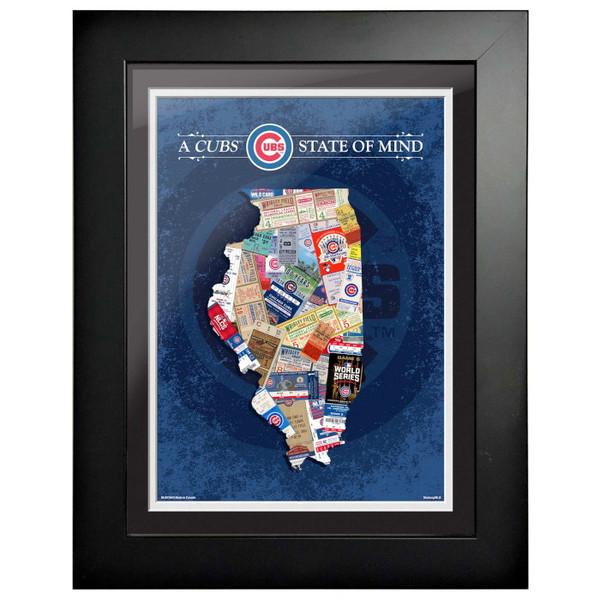 Chicago Cubs State of Mind Framed 18 x 14 Ticket Collage Artwork