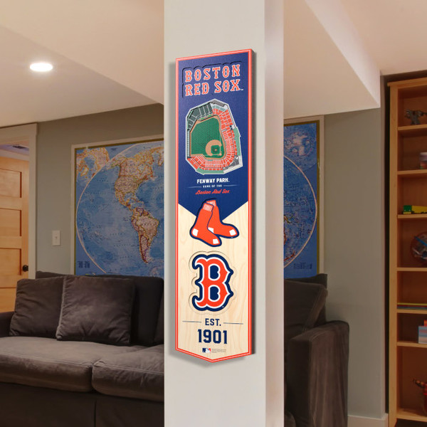 Boston Red Sox 8 x 32 3D StadiumView Banner
