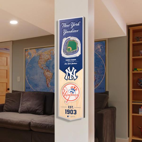 New York Yankees 8 x 32 3D StadiumView Banner