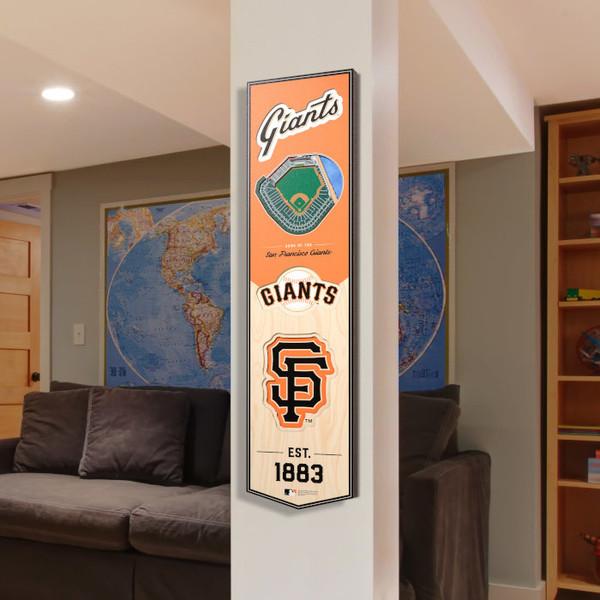 San Francisco Giants 8 x 32 3D StadiumView Banner
