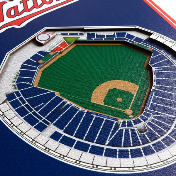 Washington Nationals 8  x 32 3D StadiumView Banner