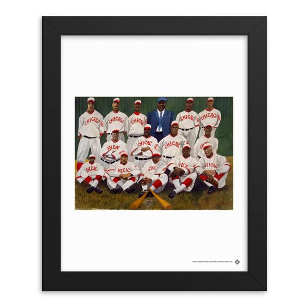 Teambrown Chicago American Giants Artwork Framed 8 x 10 Print