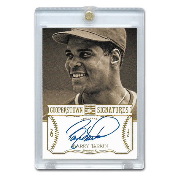 Barry Larkin Autographed Card 2013 Panini Cooperstown Signatures Ltd Ed of 190