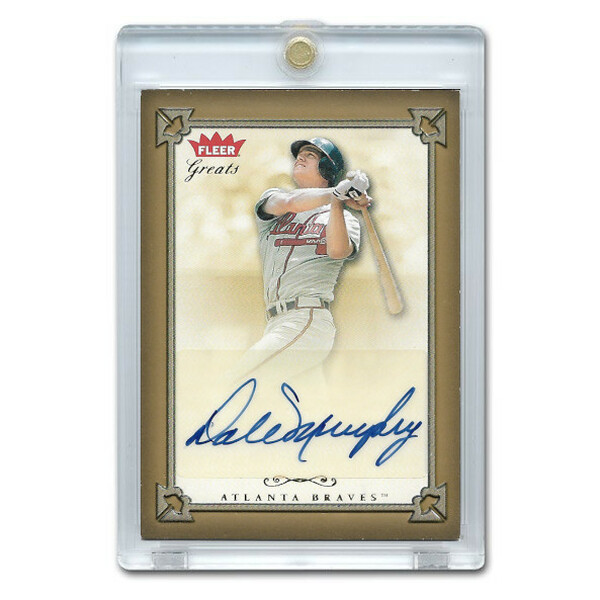 Dale Murphy Autographed Card 2004 Fleer Greats of the Game