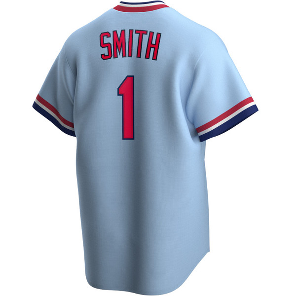 Men's Nike Ozzie Smith St. Louis Cardinals Cooperstown Collection Light Blue Jersey