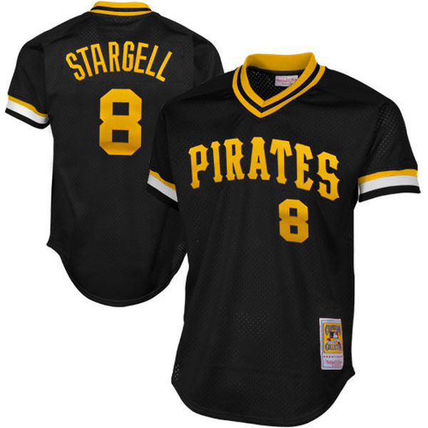Men's Mitchell & Ness Willie Stargell 1982 Pittsburgh Pirates Batting Practice Cooperstown Jersey