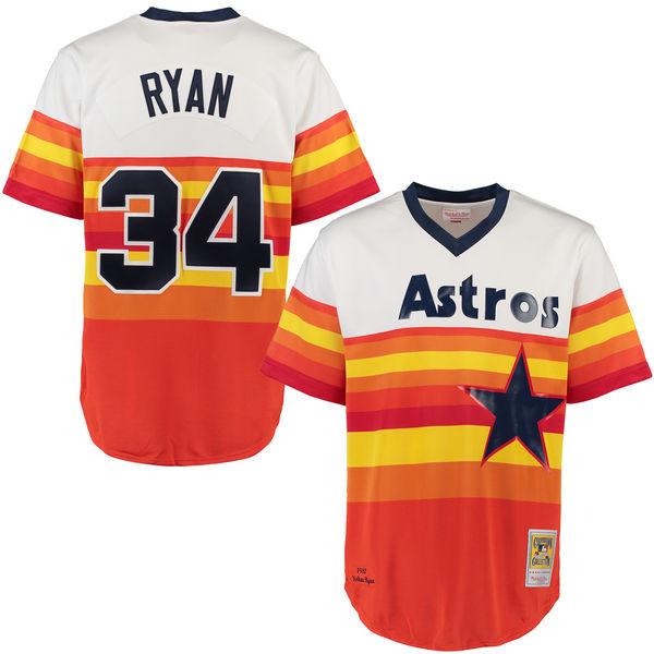 Men's Mitchell & Ness Nolan Ryan 1980 Houston Astros Authentic Home Jersey