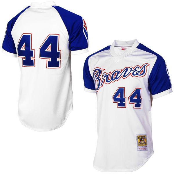 Men's Mitchell & Ness Hank Aaron 1974 Atlanta Braves Authentic Home Jersey
