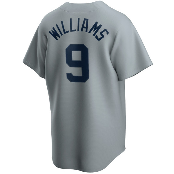 Men's Nike Ted Williams Boston Red Sox Cooperstown Collection Gray Jersey