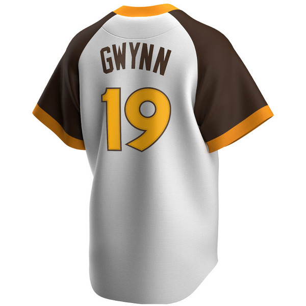 Men's Nike Tony Gwynn San Diego Padres Cooperstown Collection White and Brown Jersey