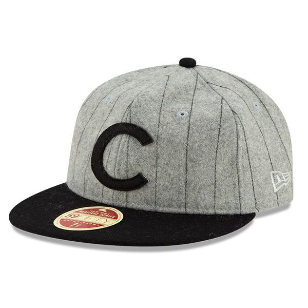Men's New Era Heritage Series Authentic 1908 Chicago Cubs Retro-Crown 59FIFTY Cap