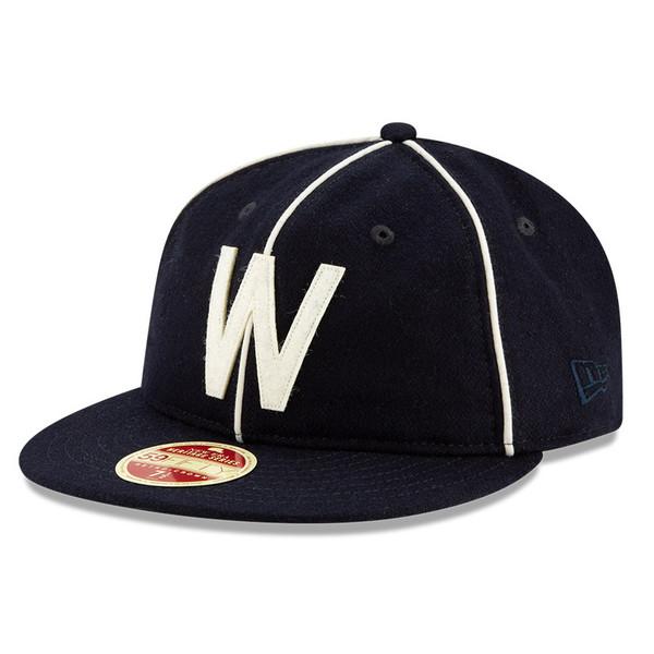 Men's New Era Heritage Series Authentic 1908 Washington Senators Retro-Crown 59FIFTY Cap
