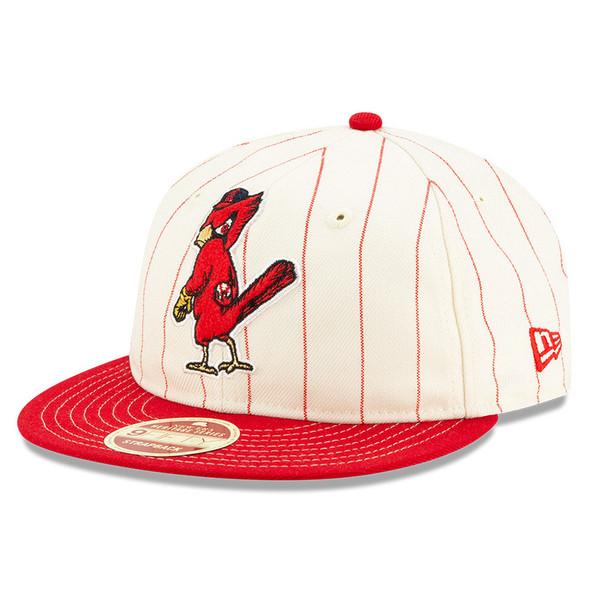 Men's New Era Heritage Series Retro Crown Red Pinstripe 1950 St. Louis Cardinals 9FIFTY Adjustable Cap