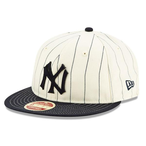 Men's New Era Heritage Series Retro Crown Navy Pinstripe 1934 New York Yankees 9FIFTY Adjustable Cap