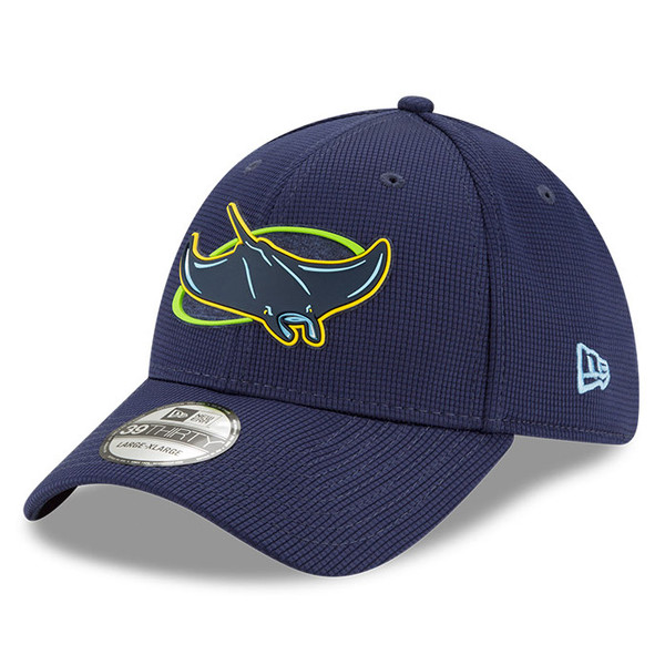 Men's New Era Tampa Bay Rays 39THIRTY Flex Fit Navy Clubhouse Cap