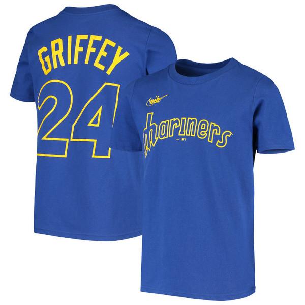 Youth Nike Ken Griffey Jr. Seattle Mariners Royal Name & Number T-Shirt
