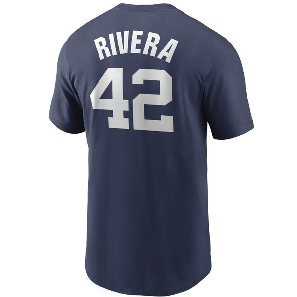 Men's Nike Mariano Rivera New York Yankees Cooperstown Collection Name & Number Navy T-Shirt