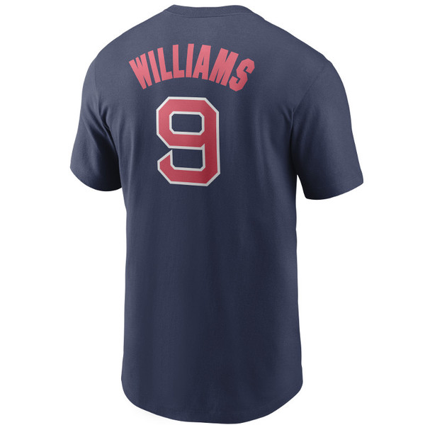 Men's Nike Boston Ted Williams Red Sox Cooperstown Collection Name & Number Navy T-Shirt