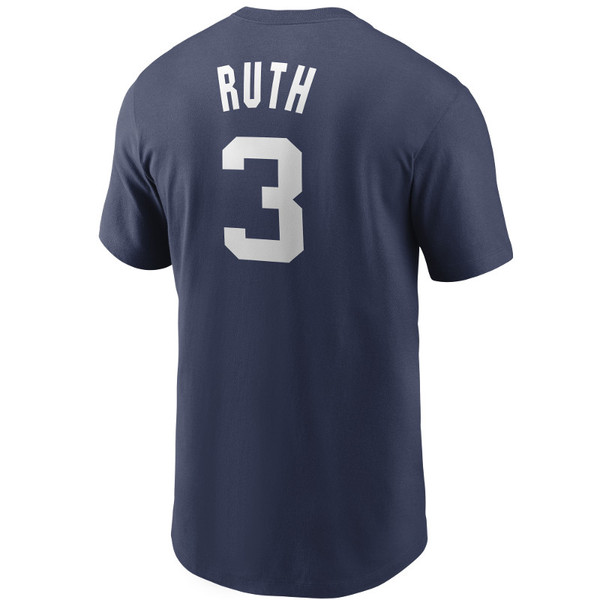 Men's Nike Babe Ruth New York Yankees Cooperstown Collection Name & Number Navy T-Shirt