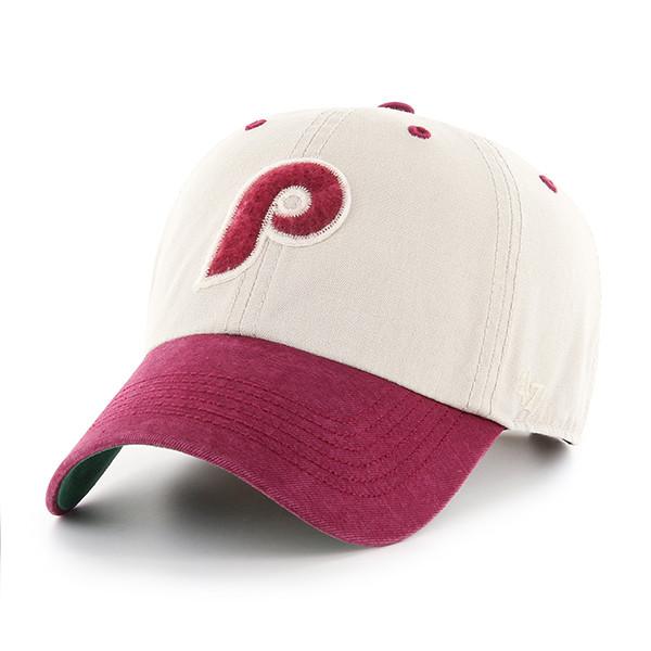 Men's '47 Brand Philadelphia Phillies Cooperstown Prewett Clean-Up Adjustable Cap