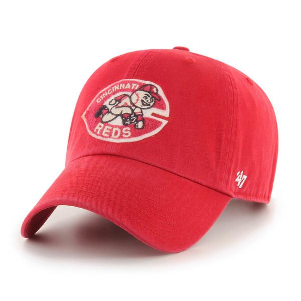 Men's '47 Brand Cincinnati Reds Cooperstown McLean Clean-Up Adjustable Red Cap