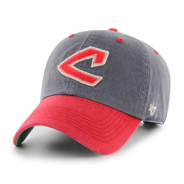Men's '47 Brand Cleveland Indians Cooperstown Prewett Clean-Up Adjustable Cap