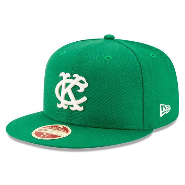Men's New Era Heritage Series Established 1955 Kansas City Athletics Green 59FIFTY Cap