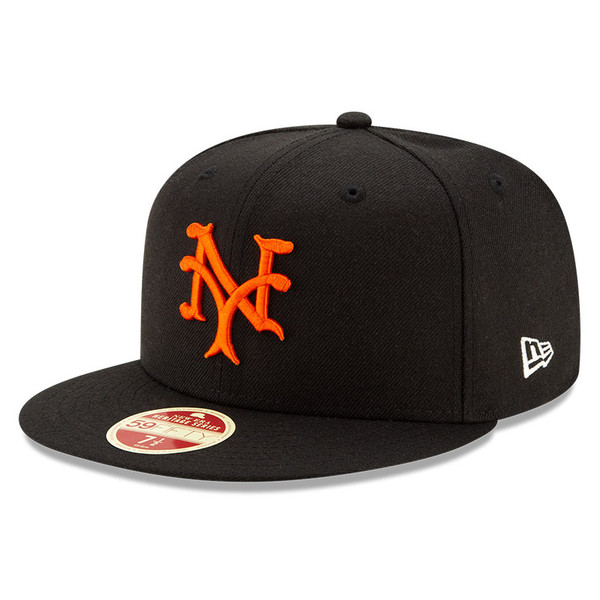 Men's New Era Heritage Series Established 1883 New York Giants Black 59FIFTY Cap