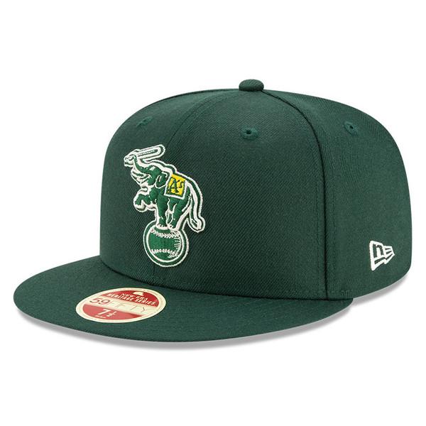 Men's New Era Heritage Series Established 1968 Oakland Athletics Green 59FIFTY Cap