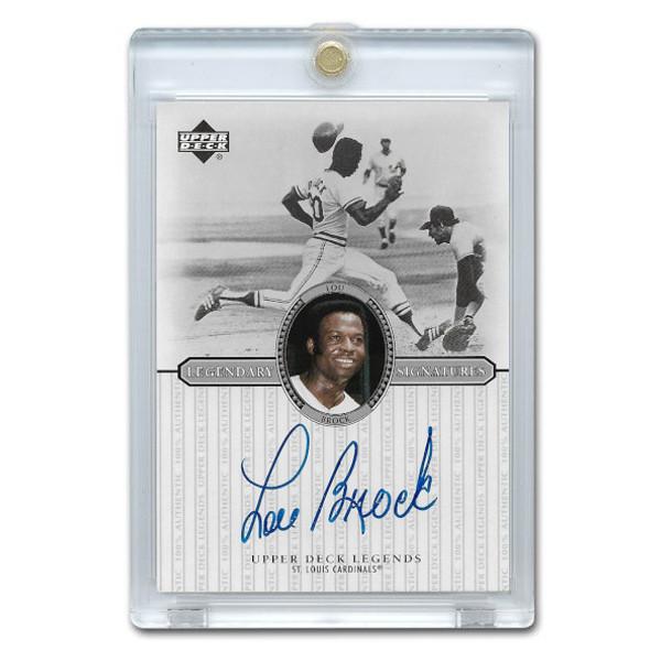 Lou Brock Autographed Card 2000 Upper Deck Century Legends