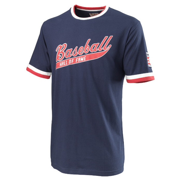 Men's American Needle Red Jacket Baseball Hall of Fame Remote Control Navy T-Shirt