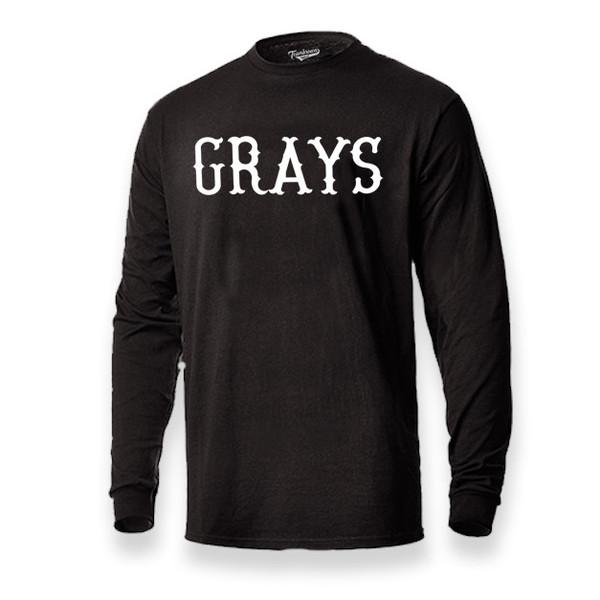 Men's Teambrown Homestead Grays Long Sleeve Crew T-Shirt