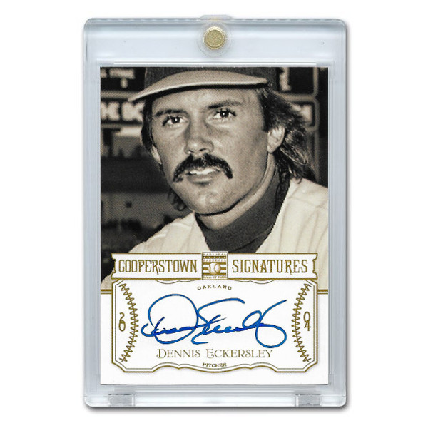 Dennis Eckersley Autographed Card 2013 Panini Cooperstown Signatures Ltd Ed of 500