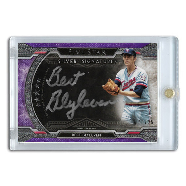 Bert Blyleven Autographed Card 2018 Topps Five Star Silver Signatures Lt Ed of 25