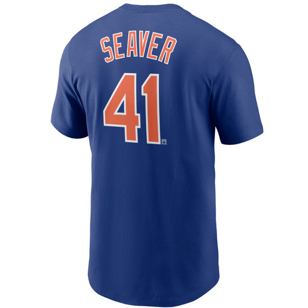 Men's Nike Tom Seaver New York Mets Cooperstown Collection Name & Number Royal T-Shirt